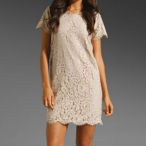 Joie SUSINA Tan LACE DRESS